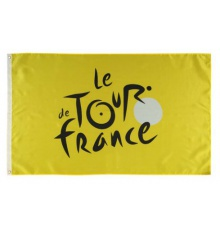 TOUR DE FRANCE yellow supporter flag