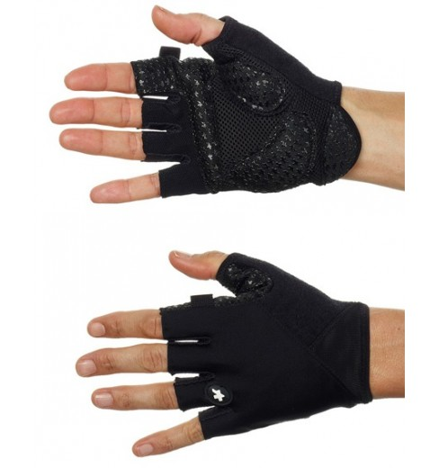 ASSOS S7 black summer gloves