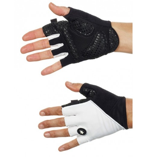 ASSOS S7 white summer gloves