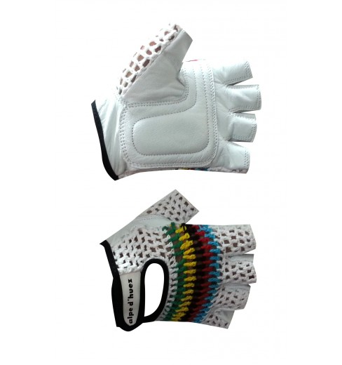 ALPE D'HUEZ Critérium crochet cycling gloves