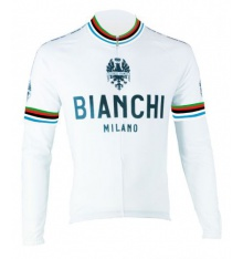 BIANCHI MILANO Leggenda long sleeves jersey white 2017