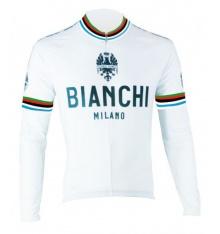 BIANCHI MILANO maillot manches longues Leggenda blanc 2016