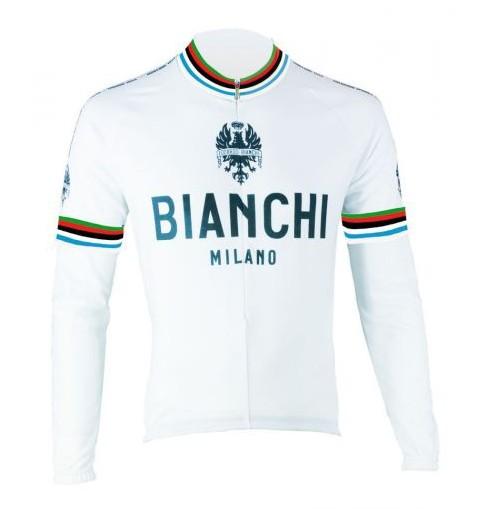 BIANCHI MILANO maillot manches longues Leggenda blanc 2017