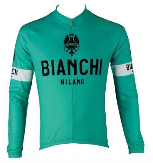 BIANCHI MILANO maillot manches longues Leggenda vert céleste 2016