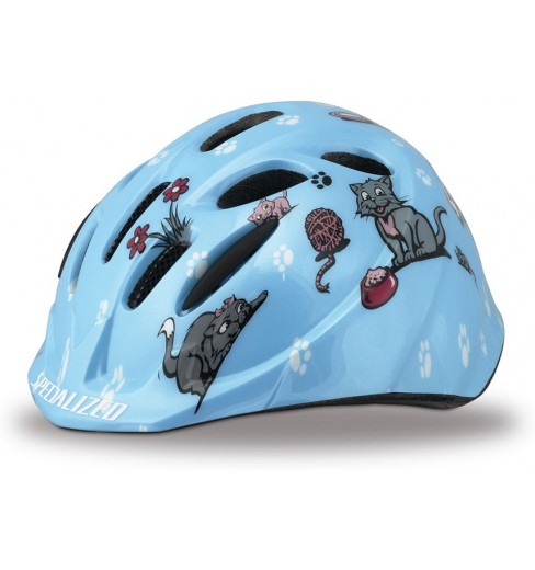 SPECIALIZED Small Fry Toddler blue kittens kids helmet