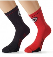 ASSOS chaussettes Equipe Evo7 Rouge Suisse