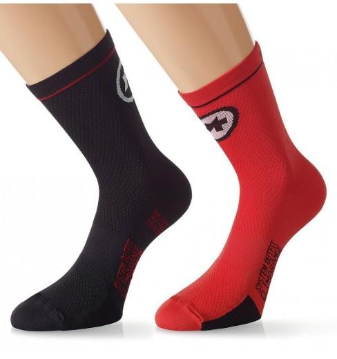 ASSOS Equipe Evo7 Red Swiss socks