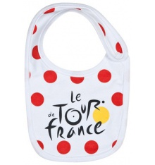 TOUR DE FRANCE Bavoir bébé officiel à pois