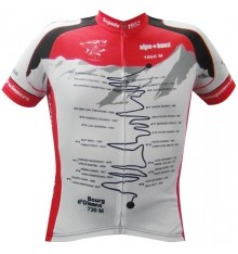 ALPE D'HUEZ Winner black red short sleeves jersey 2017