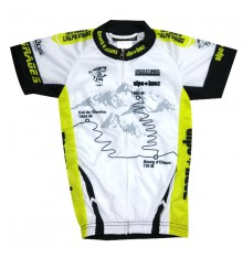 ALPE D'HUEZ white / green kid's jersey 2017