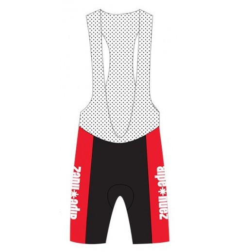 ALPE D'HUEZ white red junior cycling bibshorts 2017