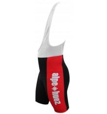 ALPE D'HUEZ cuissard à bretelles enfant blanc / rouge 2017