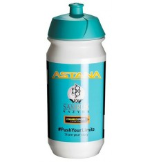 TACX Astana yellow logo water bottle 2017