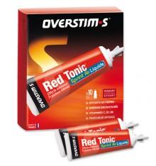 OVERSTIMS Gel Red tonic sprint air liquide, boite de 10 tubes de 35 g