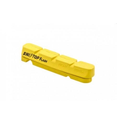 Patin SHIMANO de frein Swisstop Carbon Flash jaune