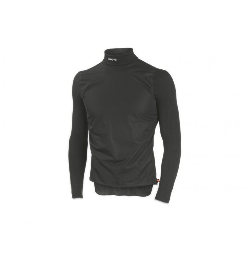 CRAFT maillot BE ACTIVE Windstopper col roulé noir/lave
