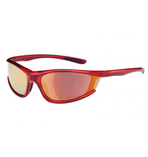 NORTHWAVE lunettes PREDATOR rouge transparent