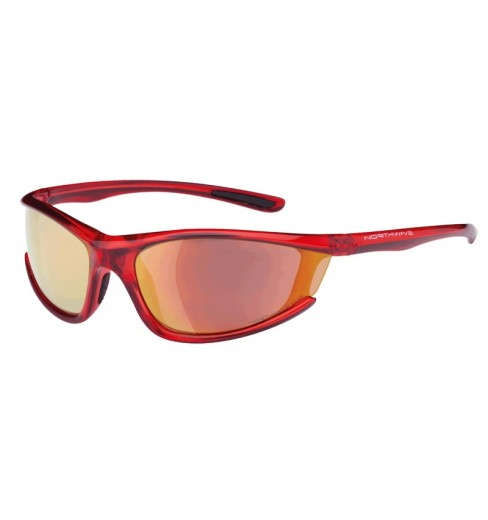 NORTHWAVE PREDATOR transparent red  sunglasses