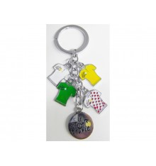 TOUR DE FRANCE 4 jerseys charm keyring