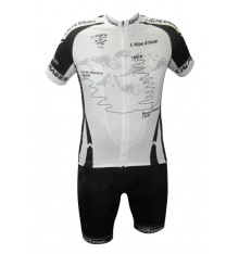ALPE D'HUEZ kit with black white short sleeves jersey