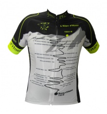 ALPE D'HUEZ winner fluo short sleeves jersey