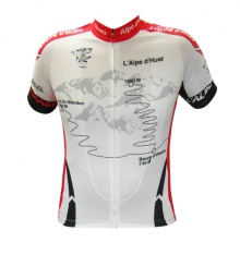ALPE D'HUEZ white red-short sleeves jersey