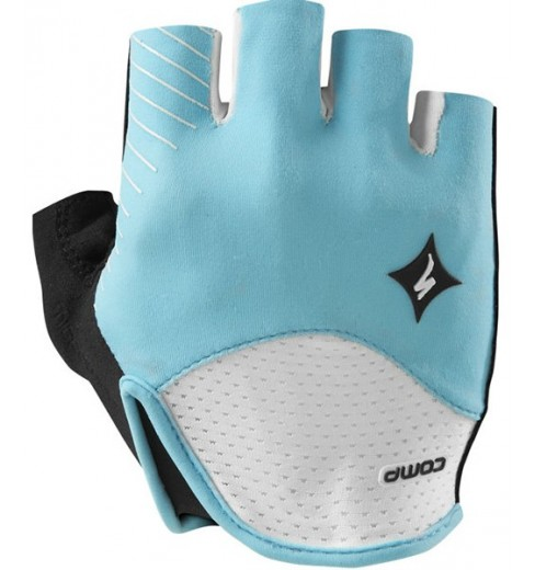 SPECIALIZED women's SL Comp white blue gloves  2015