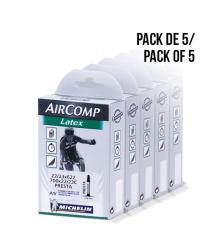 Pack de 5 chambres à air MICHELIN Latex 700x23 42 mm