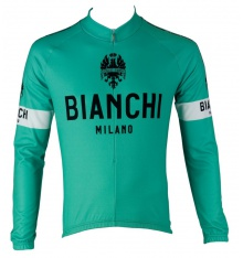 BIANCHI MILANO maillot manches longues Leggenda vert céleste 2019