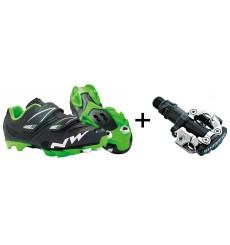 NORTHWAVE chaussures VTT Hammer junior + pédales Shimano M520