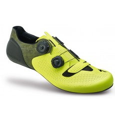 SPECIALIZED S-Works 6 neon yellow road shoes - limited edition