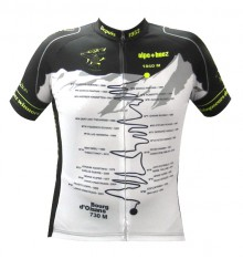 ALPE D'HUEZ maillot manches courtes Vainqueur noir jaune fluo 2017