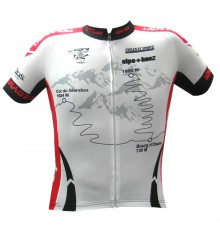 ALPE D'HUEZ maillot manches courtes Marmotte blanc rouge 2017