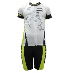 ALPE D'HUEZ white / green kid's cycling set 2017