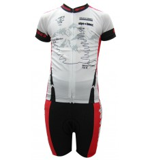 ALPE D'HUEZ white / red kid's cycling set 2017