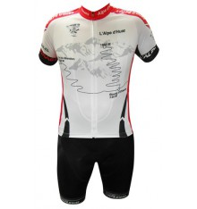 ALPE D'HUEZ cycling kit with  white red  jersey