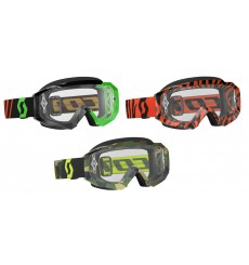 SCOTT masque Hustle MX Fluo (écran transparent)