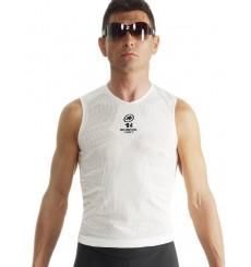 ASSOS maillot sous-vêtement sans manches skinFoil été Evo7 blanc