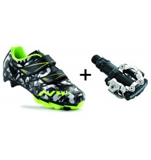 NORTHWAVE Hammer Camo junior MTB shoes + MTB pedals 2017