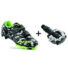 NORTHWAVE Hammer Camo junior MTB shoes + MTB pedals 2017