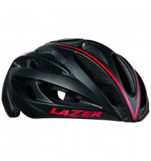 LAZER O2 Black red line road helmet with pack accessoiries