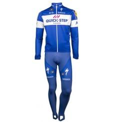 QUICK STEP FLOORS tenue cycliste hiver avec maillot manches longues 2019