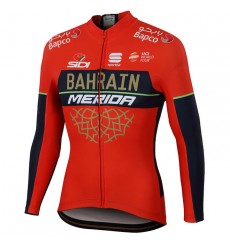 BAHRAIN MERIDA Thermal long sleeve jersey 2018