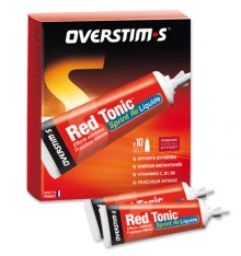 OVERSTIMS Gel Red tonic sprint air liquide, boite de 10 tubes de 35 g