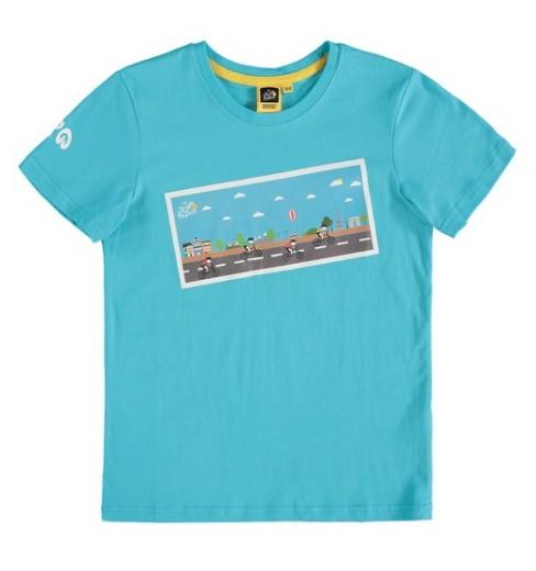 Tour de France Graphic Turquoise kids' T-Shirt 2018