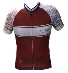 ALPE D'HUEZ Winner burgundy short sleeves jersey 2018