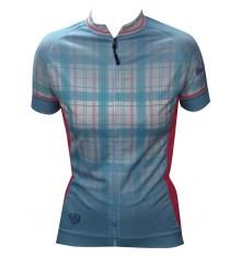 ALPE D'HUEZ checkered women's short sleeves jersey 2018