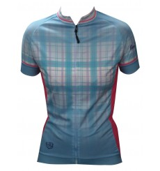 ALPE D'HUEZ checkered women's short sleeves jersey 2018