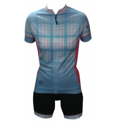 ALPE D'HUEZ checkered women's cycling set 2018