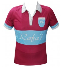 RAFA'L Vintage burgundy light blue short sleeve jersey 2018
